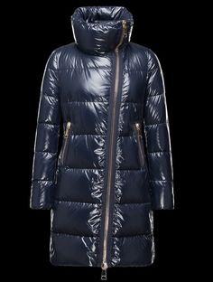 authentique veste longue femme Manteau Moncler JOINVILLE imperméable col ble personnalisé