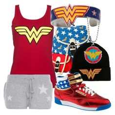 """Wonder Woman Fan"" by jmsmith462 ❤ liked on Polyvore"