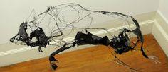 TrendsNow | 3D Wire Sculptures by David Oliveira