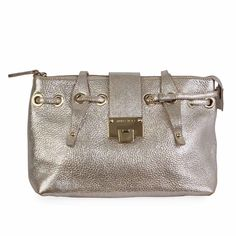 Enjoy this stunning and practical bag for your everyday necessities. Silver Accessories, Hermes Birkin, Silver Glitter, Jimmy Choo, Dust Bag, Designer Bags, Leather, Hardware, Exterior