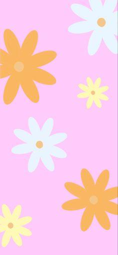 groovy flower background print