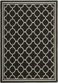 Black & cream rug
