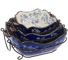 Temp Tations Floral Lace Blue Cake Pan