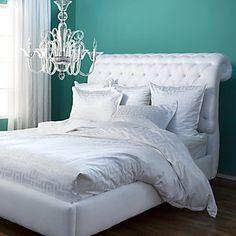 Z gallerie bedroom #headboard Blue and White @z gallerie
