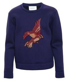 GUCCI - Bird Embroidered Sweatshirt