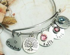 Personalized Grandma Bracelet By Symbolicreflections