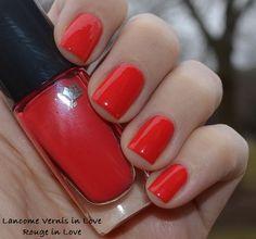 Lancome Vernis in Love - I am loving tomato red nail polish right now - this nail color. Bella Beauty, Red Nail Polish, Luxury Nails, Lancome, You Nailed It, Nail Colors, Manicure, Nail Art, Nail Bar