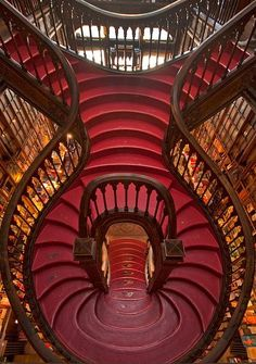 Livraria Lello, Porto. Portugal. Francisco Xavier Esteves (1864-1944) was the engineer in charge of the design of the building.