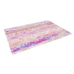 "Kess InHouse Marianna Tankelevich ""Broken Pattern"" Pink Purple Indoor/Outdoor Floor Mat, 8-Feet by 8-Feet"
