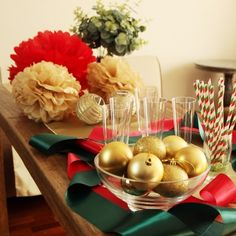 Tangtang Christmas Deco. Flower Pom タンタンパーティ クリスマスせっと フラワーポム