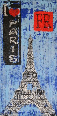 Title: The Eiffel Tower 7x14 canvas © 2012 NatsExoticCreations, All Rights Reserved.