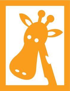 Childrens Giraffe Nursery sign Vector Photo Print 85 x by nlcorder, $14.99