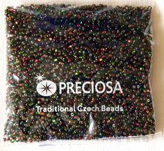 Preciosa Czech glass seed beads rocaille multicolor multisize 50 g