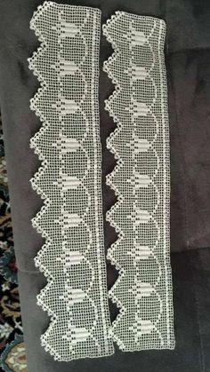 H Crochet Lace Edging, Crochet Borders, Love Crochet, Crochet Doilies, Crochet Designs, Crochet Hammock, Russian Crochet, Filet Crochet Charts, Crochet Edgings
