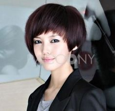 Top Grade Short-Length Fluffy Bob Hair Style With Bangs And Cap Straight Hair Wigs $21.99 on PACCONY.com