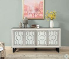Christopher Knight Home Media Credenza, Silver Furniture Deals, Bar Furniture, Furniture Design, Credenza Decor, Sideboard, Iron Shelf, Dining Room Bar, Eclectic Style, Adjustable Shelving