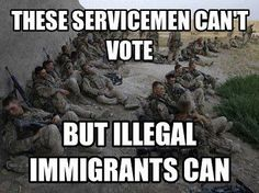 Wrong wrong WRONG!! Nobama kept our serviceman and women from voting but he lets illegals vote as the illegals vote for him. This is so wrong and we should not stand for it. They are fighting for our country they deserve to vote