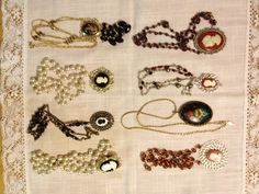 Upcycled Necklaces with Cameos designed by Janice Downs love it! must try! #ecrafty