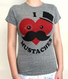 I Heart Mustaches Shirt
