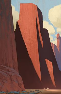 tycarterart:  Stranded in Kolob Canyon. Channeling some Edgar Alwin Payne here