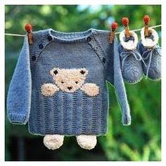 Baby Knitting Patterns, Knitting For Kids, Knitting Designs, Baby Patterns, Hand Knitting, Crochet Patterns, Pull Bebe, Baby Equipment, Knitted Slippers