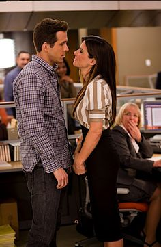 Ryan Reynolds and Sandra Bullock as Andrew & Margaret in The Proposal The Proposal Movie, The Proposal 2009, Ryan Reynolds, Movies And Series, Movies And Tv Shows, Dirty Dancing, Love Movie, I Movie, Pulp Fiction