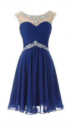 Royal Blue Homecoming Dresses, Knee Length Homecoming Dresses, 2016 Prom Dresses Bridesmaid Dresses
