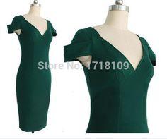 Купить товарСвободного покроя платье 2015 стиль звезд женщины платье элегантный Bodycon v образным вырезом коктейльные платья Roupas свадебные платья Большой размер в категории Коктейльные платьяна AliExpress.                                           Добро пожаловать в мой магазин