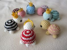 Amigurumi Turtle Pattern : Tiny striped turtles free crochet pattern i ll pin these for my