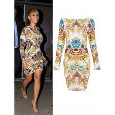 Vestido Bandage Floral Beyonce Online VB036