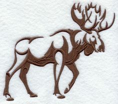 Machine Embroidery Designs at Embroidery Library! Moose Silhouette, Animal Silhouette, Moose Decor, Moose Art, Machine Embroidery Designs, Embroidery Patterns, Moose Tattoo, Moose Pictures, Woodworking Logo