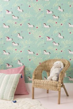 New! Sarah Jane Wallpaper || Reusable, Removable, Peel & Stick, Made in the USA and 100% parent & kid friendly || photo by @cameracassidy Styling by @onemoremushroom