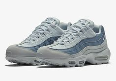 on sale 96755 23c0d Nike s Air Max 95 Emerges in Monochrome Pale Blue  Multi-textile uppers.