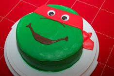 The Theme Of His Birthday Party Was Teenage Mutant Ninja Turtles I Ninja Turtle Party, Ninja Turtle Birthday Cake, Ninja Cake, Tmnt Cake, Ninja Party, Ninja Turtles, Birthday Parties, Birthday Ideas, Birthday Cakes
