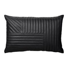 Create a sleek contemporary look in the home with this Motum cushion from AYTM. Made from soft sheep leather and reversing to cotton canvas, this cushion has an eye-catching quilted design arranged in
