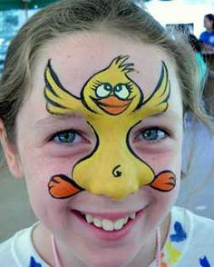 Are you in search of ideas for face painting for parties? Then check out our pick of 30 designs for face painting for kids! Girl Face Painting, Face Painting Designs, Painting For Kids, Animal Face Paintings, Animal Faces, Easter Face Paint, Duck Face, Super Cute Animals, Learn To Fly