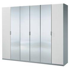 e-combuy Angebote Kleiderschrank ELAN-A graphit, alpinweiß, verspiegelt H=236cm: Category: Drehtürenschränke Item number:…%#Quickberater%