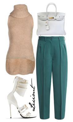 Untitled #500 by leximt on Polyvore featuring polyvore, fashion, style, Pinko, Diane Von Furstenberg, Hermès, Tom Ford and clothing