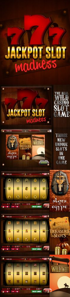 WOW!! catch the latest casino slot game Jackpot Slot Madness ! Its Superb in all the way! Meet unlimited entertainment, top-tier graphics, and high-quality sound effects with Jackpot Slot Madness. * Three alternative themes * New games added as unique every time you play * You can find more ways to quickly unlock games  The most interesting factor is Jackpot Slot Madness is EASY to play and easy to win !! Do you want to check your luck today, Play Jackpot Slot Madness!!