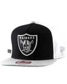 cfb5b58bc77 Raiders Tri Color Felt Snap Back Cap by New Era.Officially Licensed by the  NFL.One size fits all