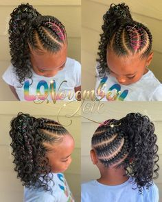 Black Kids Braids Hairstyles, Braids Hairstyles Pictures, Natural Hairstyles For Kids, Baby Girl Hairstyles, Braids For Black Hair, Braided Hairstyles Tutorials, Black Little Girl Hairstyles, Young Girls Hairstyles, Braided Hairstyles For Black Women
