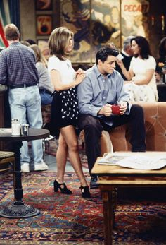 Rachel Green may have been on her feet all day at Central Perk but that didn't stop her rocking a cut-out, heeled shoe boot. SO ahead of her time...
