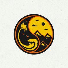 vintage nature ying yang / logo design by yudo_sajiwo ... @yudo_sajiwo