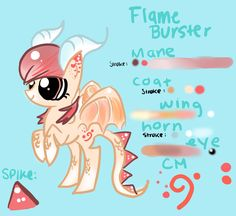She's a dragon pony who loves the color orange and foxes.