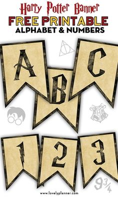 Free Printable Harry Potter Banner With Alphabet and Numbers Free Printable Harry Potter Party Banner with Alphabet and Numbers: Create your own message to decorate your next Harry Potter Party, Baby Shower, Bachelorette Party, Birthday, etc. Baby Harry Potter, Harry Potter Baby Shower, Harry Potter Motto Party, Harry Potter Banner, Harry Potter Fiesta, Harry Potter Party Games, Classe Harry Potter, Harry Potter Thema, Harry Potter School