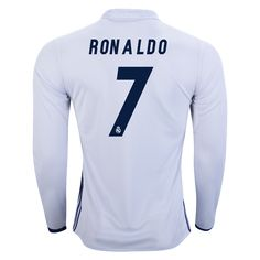 1e928fbca adidas Cristiano Ronaldo Real Madrid Long Sleeve Home Jersey 16 17
