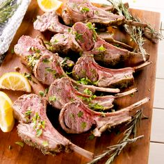 A roasted rack of lamb is the perfect showstopper, especially when it comes to E. A roasted rack of lamb is the perfect showstopper, especially when it comes to Easter dinner. Because working with l Lamb Recipes Oven, Healthy Meat Recipes, Roast Recipes, Best Lamb Recipes, Healthy Hamburger, Best Rack Of Lamb Recipe, Fun Cooking, Cooking Recipes, Cooking Videos