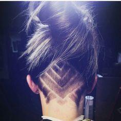 Hair Tattoo Designs Women, Hair Tattoo Undercut, Nape Cut, Undercut Hair Tattoo, Hair Tattoos Designs, Nape Design, Hair Inspiration