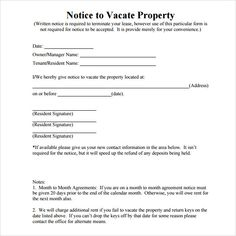 Free Notice To Vacate Awesome Simple Room Rental Agreement Form Free Check More At Https .