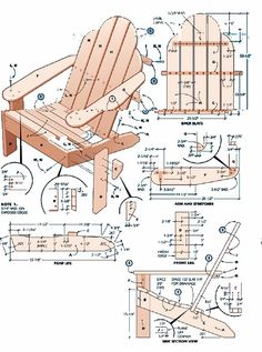adirondack chair plans - Google Search